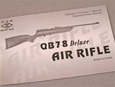 Owners guide for Chinese QB78 Deluxe CO2-powered wood and metal airguns.