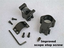 High quality scope rings. High mount. For 1 inch scopes. Suitable for all air rifles. Hammers SRAH12. Archer Airguns.