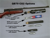 The QB79 Chinese Air Rifle. CO2-powered wood and metal airgun. Uses any scope sight. Spare parts kits and accessories available.