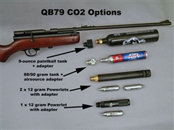 The Beeman QB79 Air Rifle. CO2-powered wood and metal airgun. Uses any scope sight. Spare parts kits and accessories available.