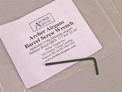 Archer Airguns tool for Chinese QB78 family CO2-powered wood and metal airguns.
