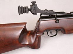 Rear peep sight for Chinese QB78 family CO2-powered wood and metal airguns.