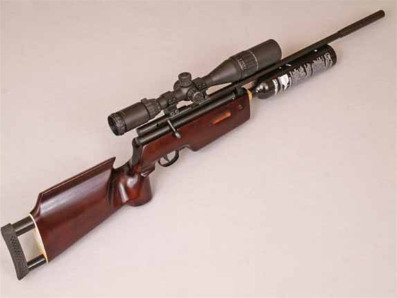 The ar a custom chinese air rifle co powered wood and
