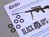 Replacement breech seal O rings for Ignite Black Ops Professional Grade Tactical Sniper air rifles. Archer Airguns.