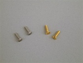 Brass and stainless steel pistol grip screws for Crosman 1377 and 2240 air pistols 1322 2250 1750 pc77 backpacker bugout kit pumpmaster classic. crossman