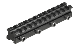 High quality Weaver mount droop compensation adapter rail for Xisico XS28M air rifle. Leapers. UTG. Archer Airguns.