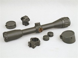 Leapers SCP-U432AOD. High quality 4 power scope with mil dot reticle. Adjustable objective. AO. Includes airgun rings. Suitable for all air rifles.